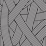 无缝抽象的背景 黑白条纹 皇族释放例证
