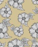 无缝抽象的花纹花样 向量例证