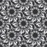无缝抽象的花纹花样 库存例证