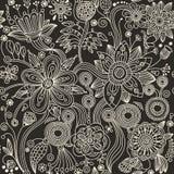 无缝抽象的花纹花样 库存照片
