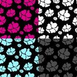 无缝抽象的花纹花样 库存图片
