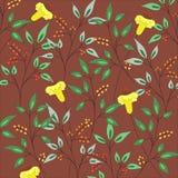 无缝抽象背景的花纹花样 库存照片