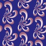 无缝抽象花卉的模式 专属装饰适用于纺织品,织品和包装 库存图片