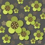 无缝抽象花卉的模式 库存照片