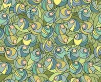 无缝抽象花卉的模式 图库摄影