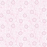 无缝抽象花卉背景 库存例证