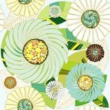 无缝抽象设计的植物群 皇族释放例证