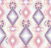 无缝抽象阿兹台克几何的模式 图库摄影