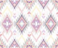 无缝抽象阿兹台克几何的模式 免版税库存图片