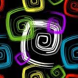 无缝抽象黑色的模式 库存例证