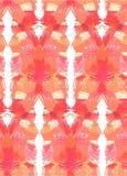 无缝拉长的现有量的模式 与镜象反射刷子冲程的抽象背景 温暖的颜色手拉的纹理 皇族释放例证