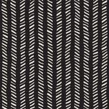 无缝拉长的现有量的模式 在黑白的抽象几何盖瓦背景 传染媒介时髦的乱画线格子 免版税图库摄影