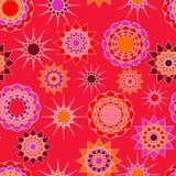 无缝摘要饱和了浅红色,紫罗兰色和轻的orang 免版税库存图片