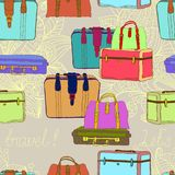 无缝旅行的手提箱 免版税库存图片