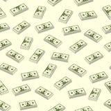 无缝无缝的美元 向量 免版税库存照片