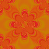 无缝时髦橙色的模式 皇族释放例证