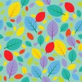 无缝明亮的叶子的模式 图库摄影