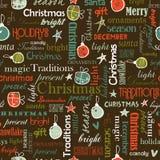 无缝明亮的圣诞节的模式 图库摄影