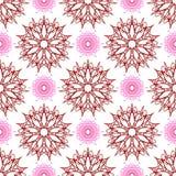 无缝星喜欢花和编织的花与点 免版税图库摄影