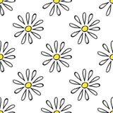 无缝春黄菊的纺织品 图库摄影