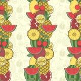 无缝果子的模式 免版税图库摄影