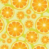 无缝柑橘的模式 向量例证