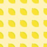 无缝柠檬的模式 免版税库存图片