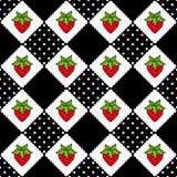 无缝样式的草莓 免版税库存照片