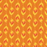 无缝样式金子叶子 向量例证