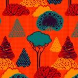 无缝森林的模式 库存图片