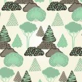无缝森林的模式 图库摄影