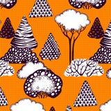 无缝森林的模式 免版税图库摄影
