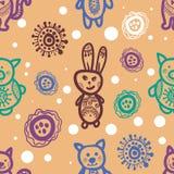 无缝模式的兔子 免版税图库摄影