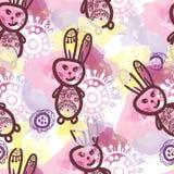无缝模式的兔子 免版税库存照片
