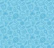 无缝模式的学校 免版税库存照片