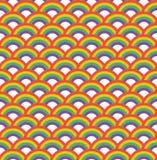 无缝模式的彩虹 免版税图库摄影