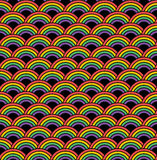 无缝模式的彩虹 库存图片