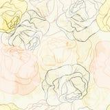 无缝模式的玫瑰 免版税图库摄影