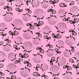 无缝模式的玫瑰 免版税库存照片