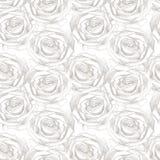 无缝模式的玫瑰 库存图片