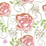 无缝模式的玫瑰 库存例证