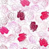 无缝模式的玫瑰 图库摄影