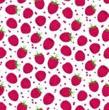 无缝模式的莓 免版税库存图片