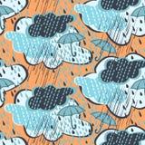 无缝模式的雨 皇族释放例证
