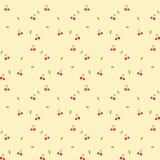 无缝樱桃的模式 免版税图库摄影