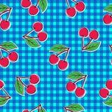 无缝樱桃的模式 免版税库存照片