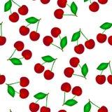 无缝樱桃的模式 库存例证
