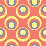 无缝橙色的模式 与蓝色的明亮的几何背景和黄色设计 库存图片