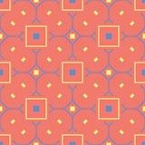 无缝橙色的模式 与蓝色的明亮的几何背景和黄色设计 库存照片