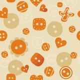 无缝橙色的模式 库存照片